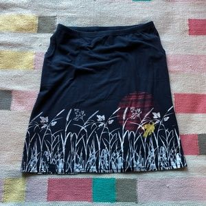 Umsteigen Etsy artsy screen printed skirt size L